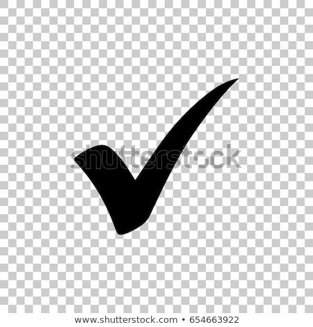 Vector black checkmark icon. vector illustration isolated on white background. Stock photo © kyryloff