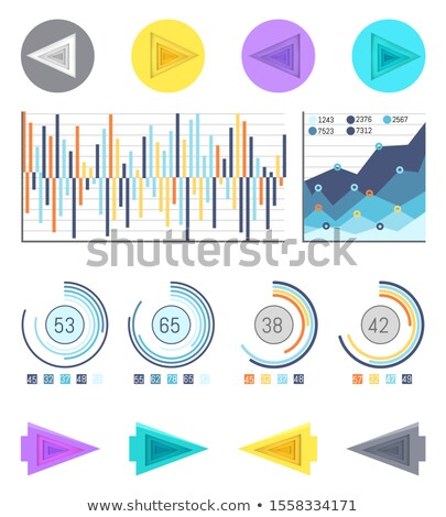 Business Pie Diagrams and Arrowheads Pointers Stock photo © robuart