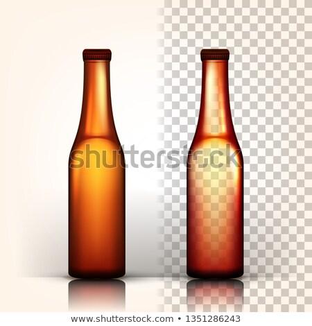 Sörösüveg vektor Oktoberfest főzet felirat barna Stock fotó © pikepicture