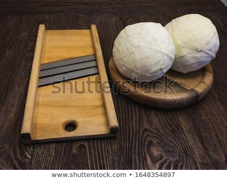 repolho · preparação · cozinhar · mão - foto stock © oleksandro