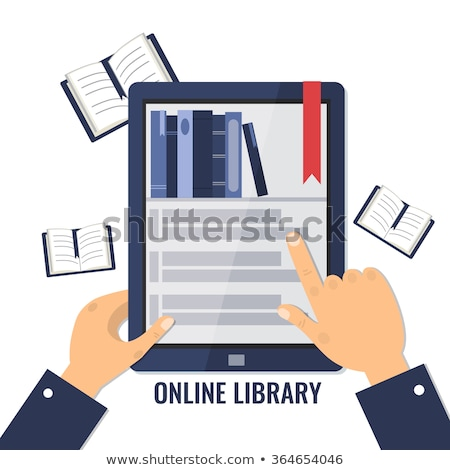 Stock photo: Book with Bookmarks and Monitor of PC Computer