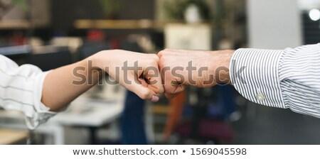 üzletemberek · ököl · dudorodás · sikeres · üzleti · partnerek · egyéb - stock fotó © andreypopov