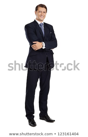 Full length image of adult business man in stylish formal wear,  Stock photo © deandrobot