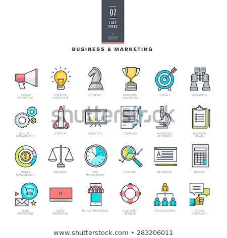 Business and technology colorful icon set for websites and mobile applications. Flat vector illustra Stock photo © makyzz
