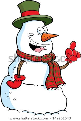 Cartoon snowman with an idea Stock photo © bennerdesign