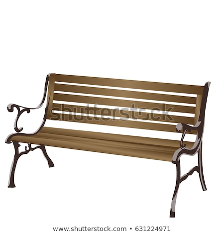 Design Classical Handicraft Wooden Bench Vector Stock photo © pikepicture