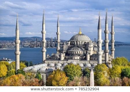 Mesquita istambul azul histórico céu viajar Foto stock © borisb17