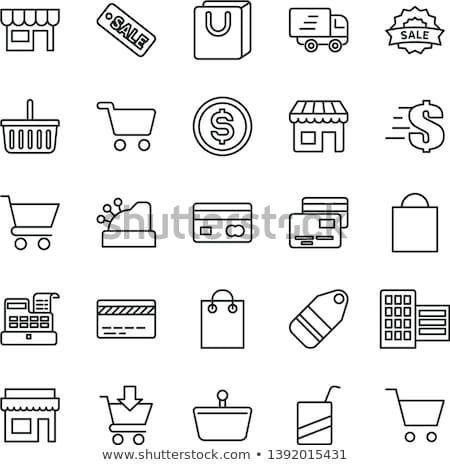 Ceny pieniężnych karty wektora cienki line Zdjęcia stock © pikepicture