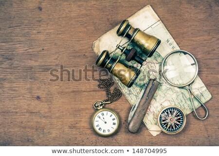 Kieszeni nóż retro w stylu retro ilustracja częściowo Zdjęcia stock © patrimonio