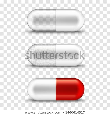 vector background with pills and capsules medicine or dietary supplements doodle stock photo © user_10144511
