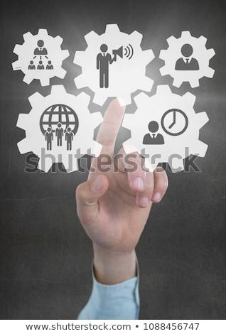 imprenditore · arrow · clock · isolato · bianco · lavoro - foto d'archivio © wavebreak_media