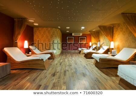 Foto d'archivio: Spa · stanza · verde · luci · massaggio