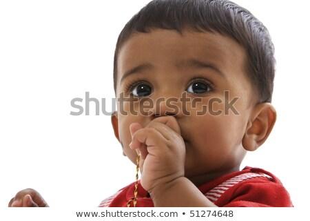 Ritratto dolce indian baby guardando dritto Foto d'archivio © lichtmeister