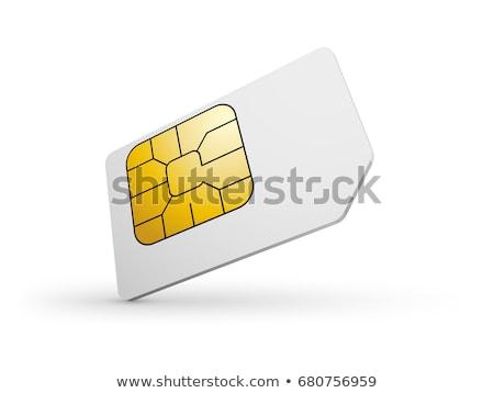 Kaarten geïsoleerd witte telefoon netwerk Blauw Stockfoto © cidepix