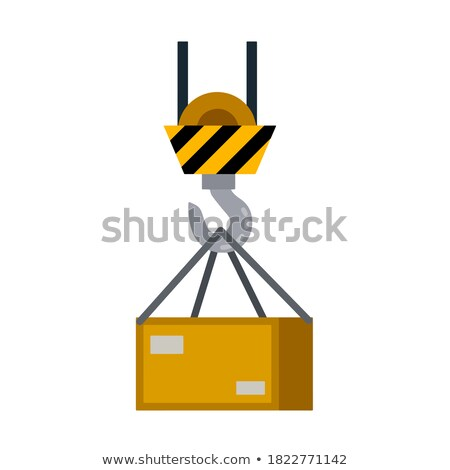 Crane with Hook to Lift and Transport Items Vector Stock photo © robuart
