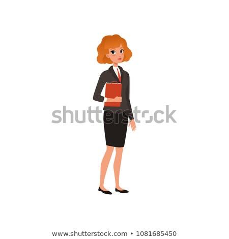 Formalny kurtka spódnica zestaw moda kobiet Zdjęcia stock © toyotoyo