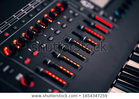 Electronic synthesizer with led backlight Stock photo © grafvision