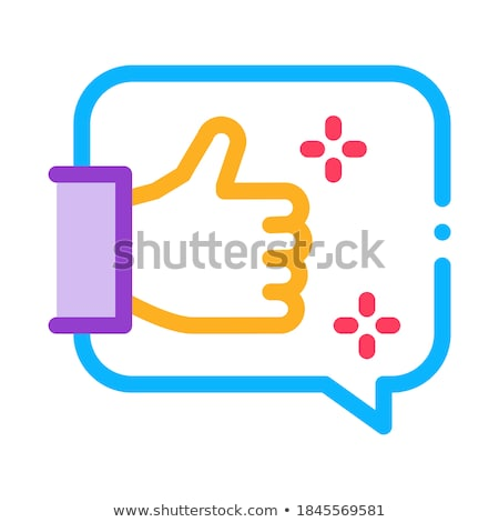 Bevestiging dacht icon vector schets Stockfoto © pikepicture