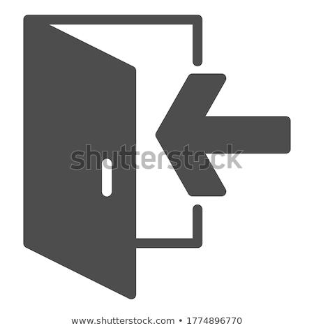 çıkmak kapı ikon örnek vektör Stok fotoğraf © pikepicture