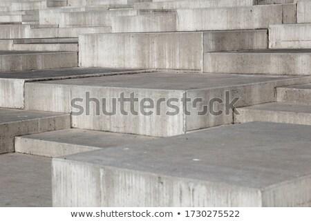 Perspectiva vista concretas bloques ciudad calle Foto stock © boggy
