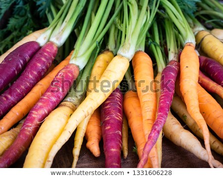 Fresh raw colorful carrots roots Stock photo © Melnyk