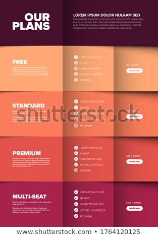製品 バージョン 垂直 赤 スキーマ ストックフォト © orson