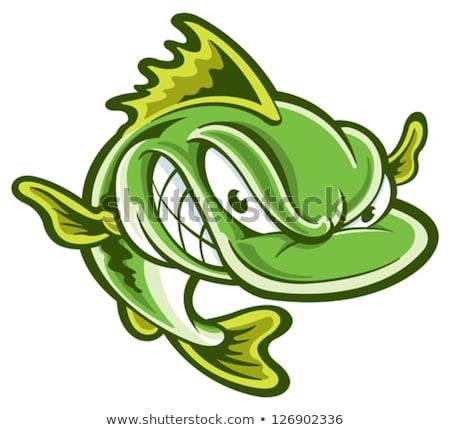 Rajz basszus boldog dizájn elem étel halászat Stock fotó © mumut