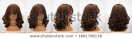 hair sleek brown female Stock photo © restyler