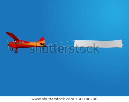 propeller plane with blue sky and clouds stock photo © 808isgreat