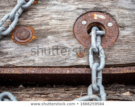 enferrujado · link · aço · bar · enferrujado · em · torno · de - foto stock © jeayesy
