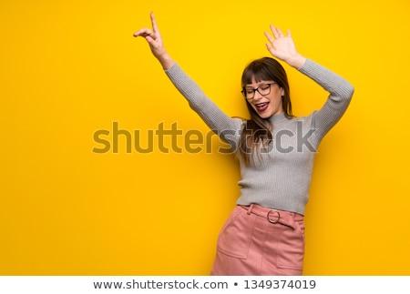 retrato · belo · hispânico · mulher · posando · dança - foto stock © HASLOO