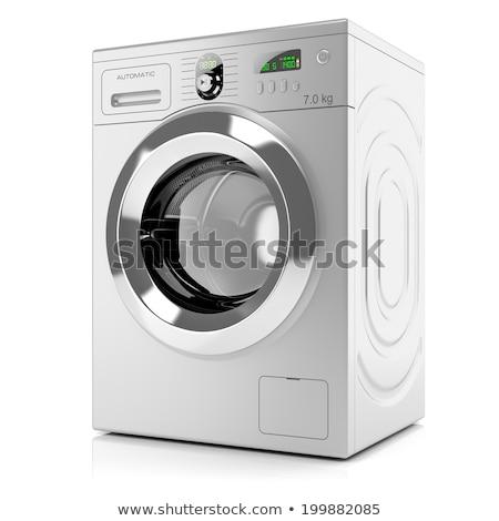 mosógép · izolált · fehér · technológia · háttér · fém - stock fotó © ozaiachin