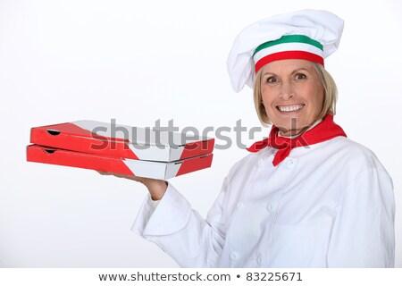 volwassen · vrouwelijke · pizza · kok · vrouw - stockfoto © photography33