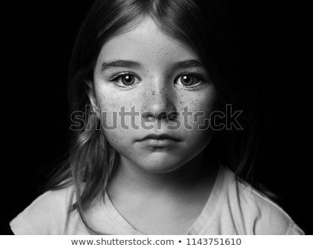 retrato · menina · inverno · branco · modelo · cabelo - foto stock © zastavkin