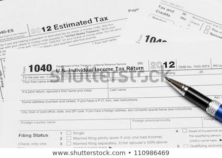 vergi · form · 1040 · yıl · 2012 · kâğıt - stok fotoğraf © backyardproductions