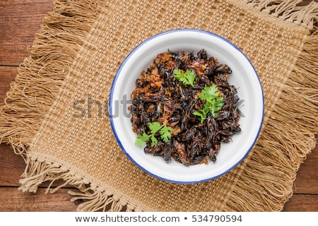 thai · étel · piac · sült · rovarok · szöcske · falatozó - stock fotó © travelphotography