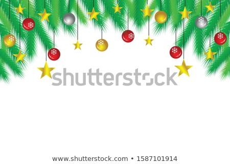 Abstract Christmas tree winter vector backgrund. Stock photo © lenapix