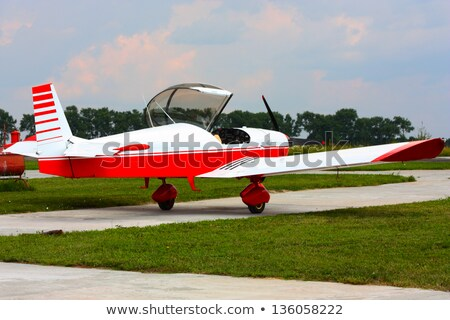 Wing of on small airoplane  Stock photo © premiere