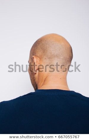 back of a shaved head ear detail stock photo © aetb