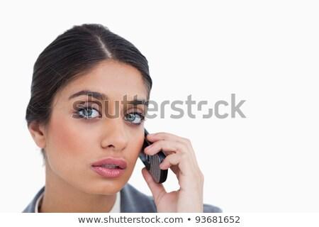 Femenino escuchar llamador blanco Foto stock © wavebreak_media