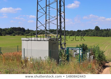 cell phone communication tower   detail close up view stock photo © bertl123