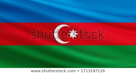 Absztrakt Azerbajdzsán zászló piros íj terv Stock fotó © maxmitzu