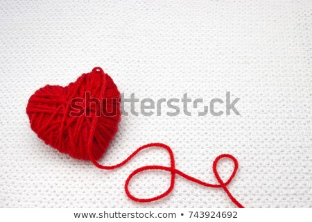 Wol liefde decoratie hart romantiek romantische Stockfoto © wavebreak_media