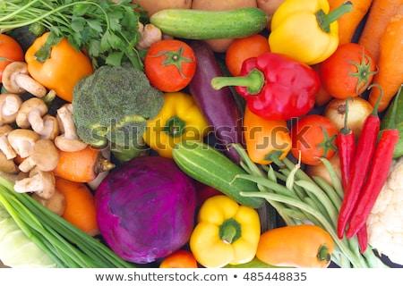 vierkante · frame · ruw · groenten · vers · geïsoleerd - stockfoto © zhekos