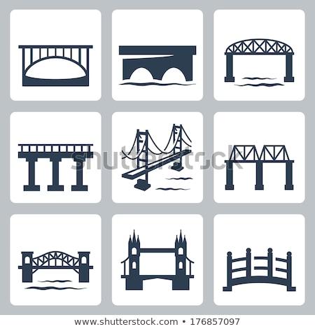 London bridge icône pont Europe scratch anglais Photo stock © Myvector