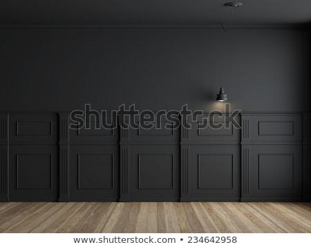 Falak fekete fa belső fából készült fal Stock fotó © scenery1