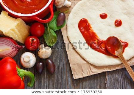 пиццы · Ломтики · деревянный · стол · продовольствие · домой - Сток-фото © gewoldi