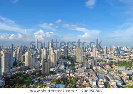 Бангкок центра шоссе сумерки Skyline Таиланд Сток-фото © vichie81