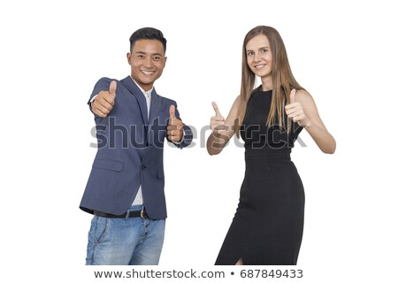 Businessman showing OK sign with his thumb up Stock photo © stevanovicigor