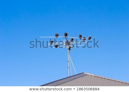 Hierro antena foto nube cielo construcción Foto stock © Nneirda